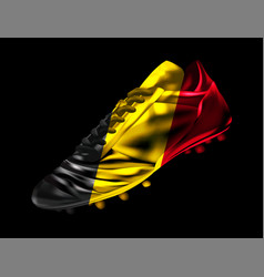 soccer football boot with the flag of belgium vector image