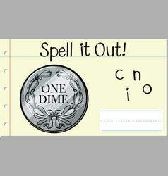 Spell it out coin vector