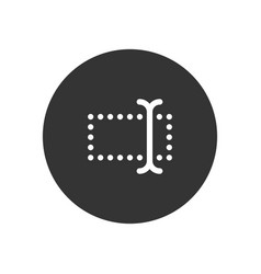 Type icon in modern style for web site and mobile vector