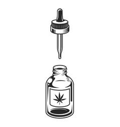 Vintage medical cannabis concept vector