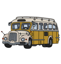 vintage yellow bus vector image