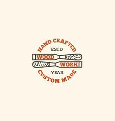 Wood work logo vector
