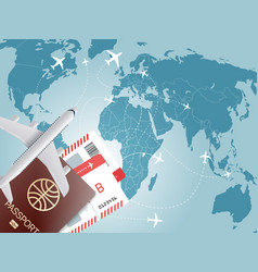 World travel concept vector