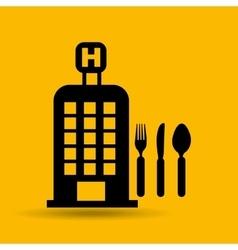 hotel service restaurant icon design graphic vector image