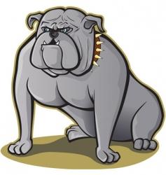 bulldog sitting vector image vector image