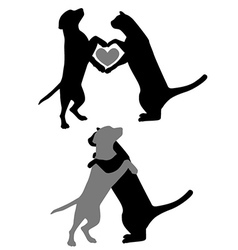 Cat Dog Love vector image