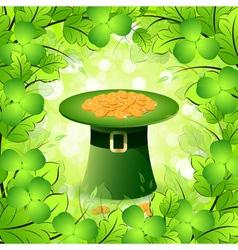 Patricks Day Card with Leprechaun Hat vector image