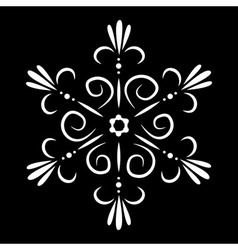 Abstract isolated snowflake or flower tattoo vector image