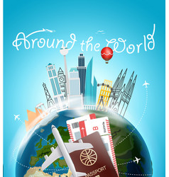 around the wotld concept travel destination vector image vector image