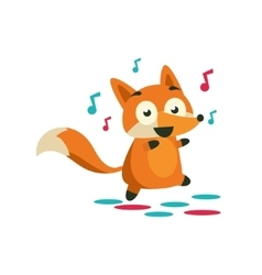 Fox On The Dancefloor vector image