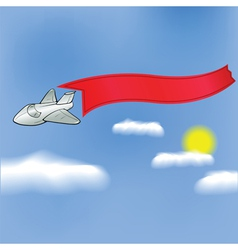 plane with banner vector image