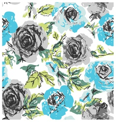 seamless rose floral pattern vector image vector image