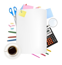 back to school notepad with vector image