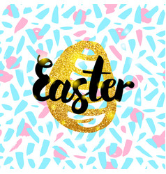 easter hand drawn design vector image vector image