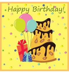 HB cake vector image