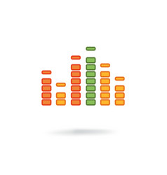 music equalizer icon vector image vector image