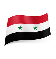 national flag of syria red white and black vector image