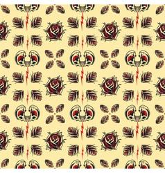 Tattoo seamless pattern vector image