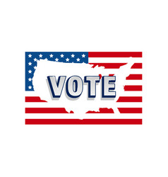 2020 vote in usa american president banner vector image