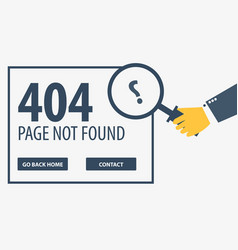 404 error page not found ui ux template for vector