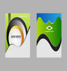 abstract creative business cards template vector image