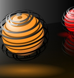 Abstract spheres background design vector image