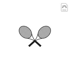 badminton racket logo icon element isolated vector image