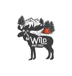 Be wild and free 2 vector