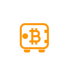 bitcoin secure deposit strongbox icon vector image