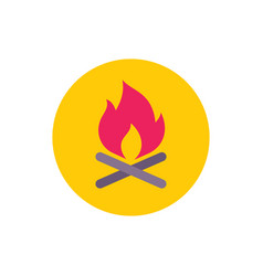 bonfire - concept colored icon in flat graphic vector image
