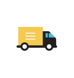box truck transportation icon design template vector image