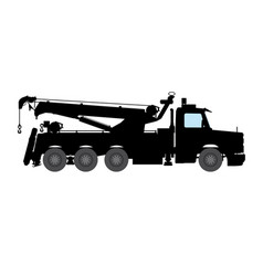 breakdown lorry on white background image vector image