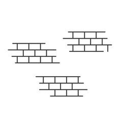 bricks background or background design element vector image