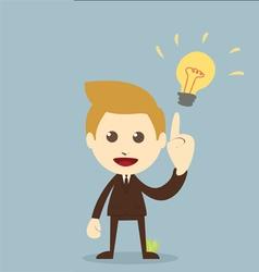 Businessman get idea vector