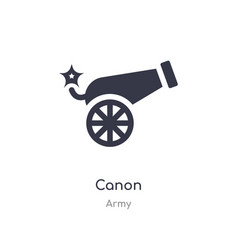 Canon icon isolated canon icon from army vector