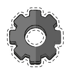 cartoon gear engineer work cooperation vector image