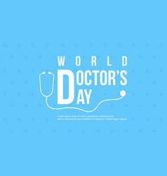 celebration doctor day design card vector image
