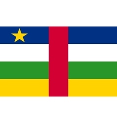 Central African Republic flag correct size colors vector