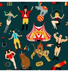 Circus set of circus stars vector