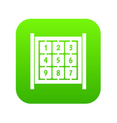 cubes with numbers on playground icon digital vector image