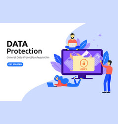data protection modern flat design concept vector image