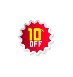 Discount 10 off template design vector