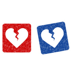Divorce heart grunge textured icon vector