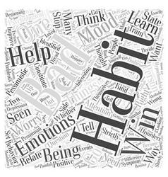 Emotional Bad Habits Word Cloud Concept vector