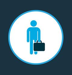 Employee icon colored symbol premium quality vector