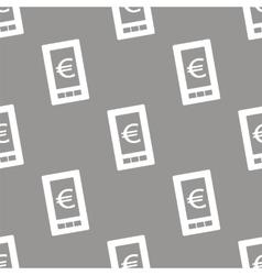 Euro phone seamless pattern vector image