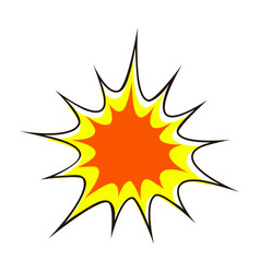 explode flash cartoon explosion star burst vector image