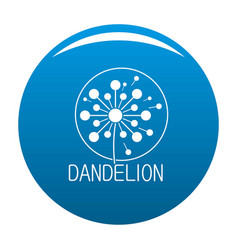Faded dandelion logo icon blue vector