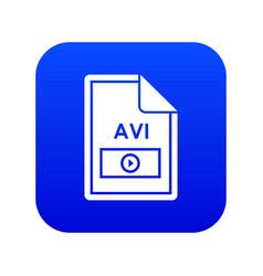 File avi icon digital blue vector