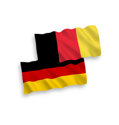 flags of belgium and germany on a white background vector image